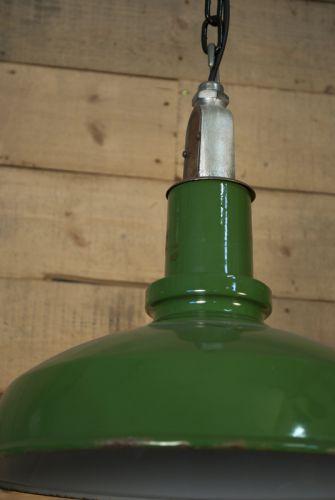Benjamin green enamel lights, set of 4