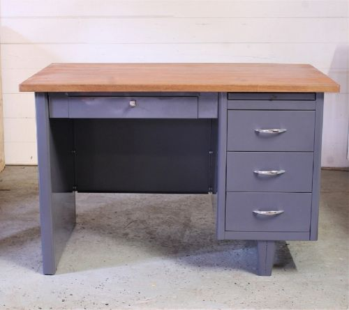 Metal & Wood Desk
