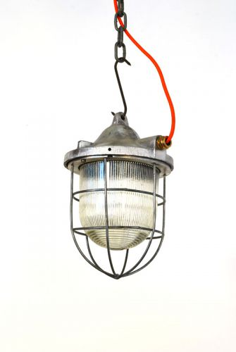 Small brushed aluminium bell topped pendant