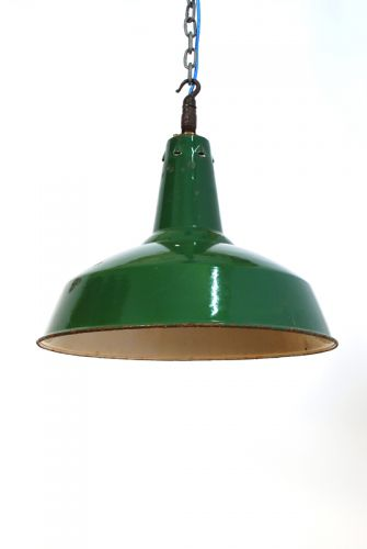 Large green factory Pendants