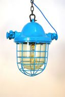 Large Painted bell top Pendant