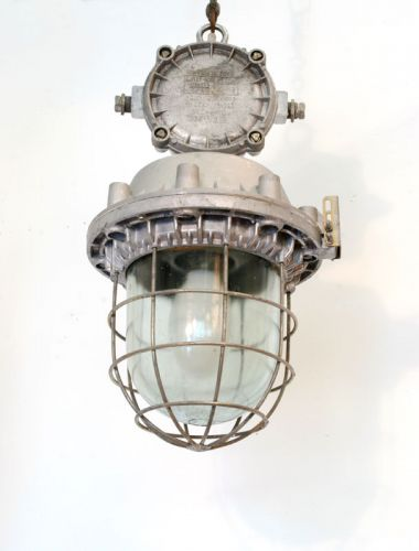 Large Aluminium pendants with junction box