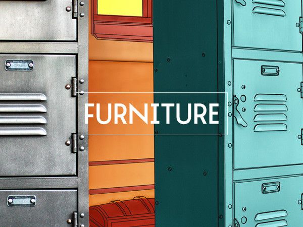 Retro interior and exterior furniture